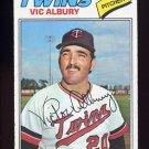 1977 Topps Baseball #536 Vic Albury - Minnesota Twins