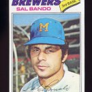 1977 Topps Baseball #498 Sal Bando - Milwaukee Brewers