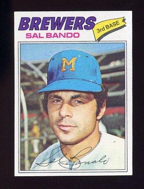 1977 Topps Baseball #498 Sal Bando - Milwaukee Brewers