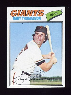 1977 Topps Baseball #496 Gary Thomasson - San Francisco Giants NM-M