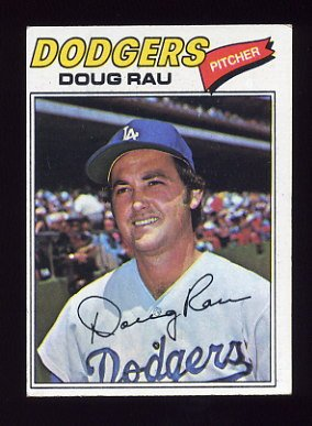 1977 Topps Baseball #421 Doug Rau - Los Angeles Dodgers