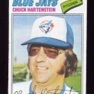 1977 Topps Baseball #416 Chuck Hartenstein - Toronto Blue Jays