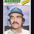 1977 Topps Baseball #379 Larry Cox RC - Seattle Mariners