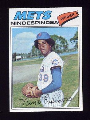 1977 Topps Baseball #376 Nino Espinosa RC - New York Mets NM-M