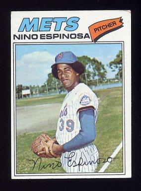1977 Topps Baseball #376 Nino Espinosa RC - New York Mets VgEx