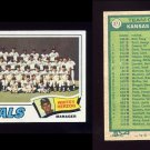 1977 Topps Baseball #371 Kansas City Royals CL / Whitey Herzog
