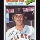 1977 Topps Baseball #343 Ed Halicki - San Francisco Giants