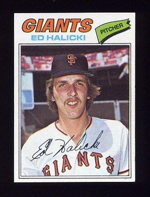 1977 Topps Baseball #343 Ed Halicki - San Francisco Giants