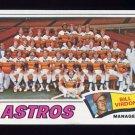 1977 Topps Baseball #327 Houston Astros CL / Bill Virdon