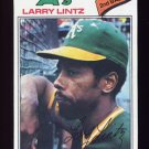 1977 Topps Baseball #323 Larry Lintz - Oakland A's