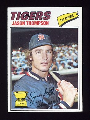 1977 Topps Baseball #291 Jason Thompson RC - Detroit Tigers