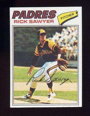 1977 Topps Baseball #268 Rick Sawyer RC - San Diego Padres