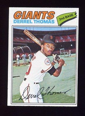 1977 Topps Baseball #266 Derrel Thomas - San Francisco Giants