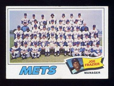 1977 Topps Baseball #259 New York Mets CL / Joe Frazier