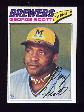 1977 Topps Baseball #255 George Scott - Milwaukee Brewers NM-M