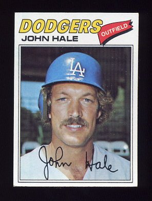 1977 Topps Baseball #253 John Hale - Los Angeles Dodgers