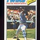 1977 Topps Baseball #249 Pete Redfern RC - Minnesota Twins