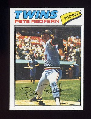 1977 Topps Baseball #249 Pete Redfern RC - Minnesota Twins
