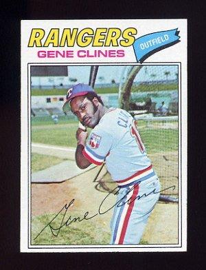 1977 Topps Baseball #237 Gene Clines - Texas Rangers