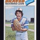 1977 Topps Baseball #213 Maximino Leon - Atlanta Braves