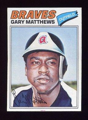 1977 Topps Baseball #194 Gary Matthews - Atlanta Braves