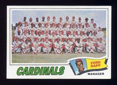 1977 Topps Baseball #183 St. Louis Cardinals CL / Vern Rapp