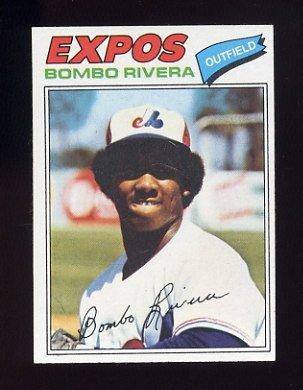 1977 Topps Baseball #178 Bombo Rivera RC - Montreal Expos