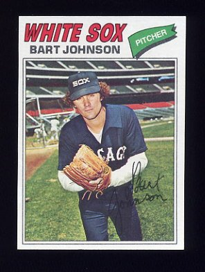 1977 Topps Baseball #177 Bart Johnson - Chicago White Sox