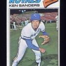 1977 Topps Baseball #171 Ken Sanders - Kansas City Royals