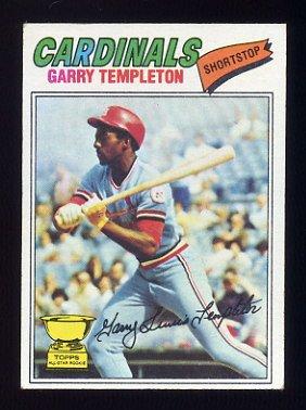 1977 Topps Baseball #161 Garry Templeton RC - St. Louis Cardinals Ex