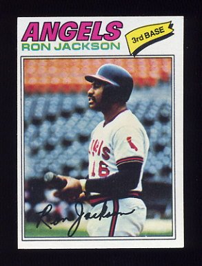 1977 Topps Baseball #153 Ron Jackson RC - California Angels