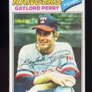 1977 Topps Baseball #152 Gaylord Perry - Texas Rangers NM-M