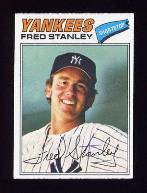 1977 Topps Baseball #123 Fred Stanley - New York Yankees