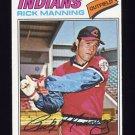 1977 Topps Baseball #115 Rick Manning - Cleveland Indians
