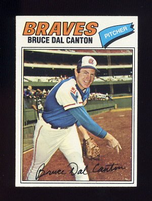 1977 Topps Baseball #114 Bruce Dal Canton - Atlanta Braves