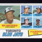 1977 Topps Baseball #113 Toronto Blue Jays CL / Roy Hartsfield