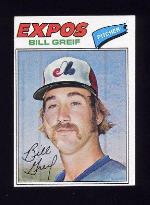 1977 Topps Baseball #112 Bill Greif - Montreal Expos