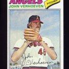 1977 Topps Baseball #091 John Verhoeven RC - California Angels