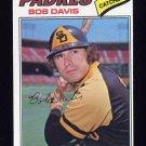 1977 Topps Baseball #078 Bob Davis - San Diego Padres