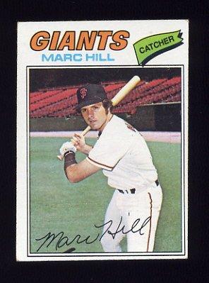 1977 Topps Baseball #057 Marc Hill - San Francisco Giants