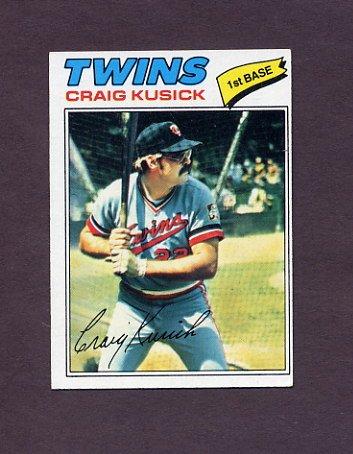 1977 Topps Baseball #038 Craig Kusick - Minnesota Twins ExMt