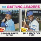 1977 Topps Baseball #001 George Brett / Bill Madlock LL