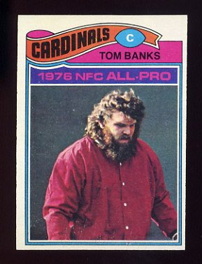 1977 Topps Football #520 Tom Banks - St. Louis Cardinals