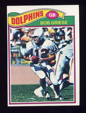 1977 Topps Football #515 Bob Griese - Miami Dolphins ExMt