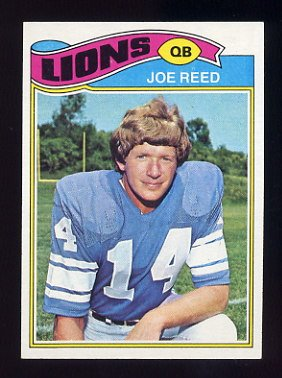 1977 Topps Football #508 Joe Reed - Detroit Lions