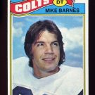 1977 Topps Football #503 Mike Barnes - Baltimore Colts NM-M