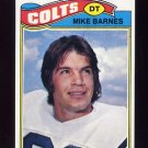 1977 Topps Football #503 Mike Barnes - Baltimore Colts ExMt