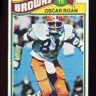 1977 Topps Football #496 Oscar Roan - Cleveland Browns