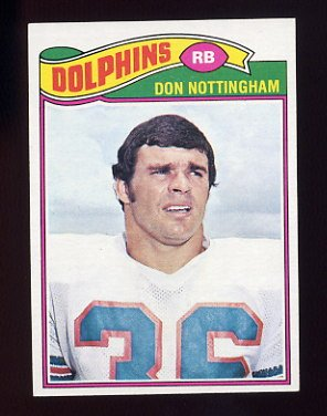 1977 Topps Football #492 Don Nottingham - Miami Dolphins