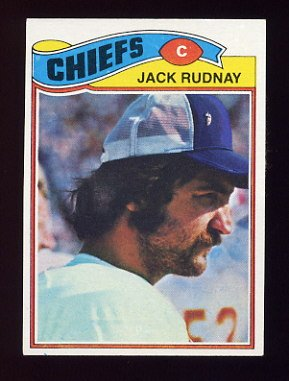 1977 Topps Football #487 Jack Rudnay - Kansas City Chiefs